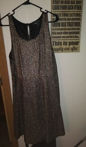 Forever 21 plus gold houndstooth dress size 3x